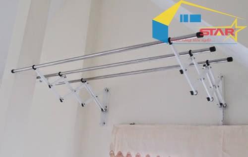 cách lắp đặt giàn phơi thông minh thẳng hàng, hướng dẫn kỹ thuật lắp đặt giàn phơi thông minh thẳng hàng,  lắp đặt thanh phơi theo 1 đường thẳng, bộ giàn phơi thông minh