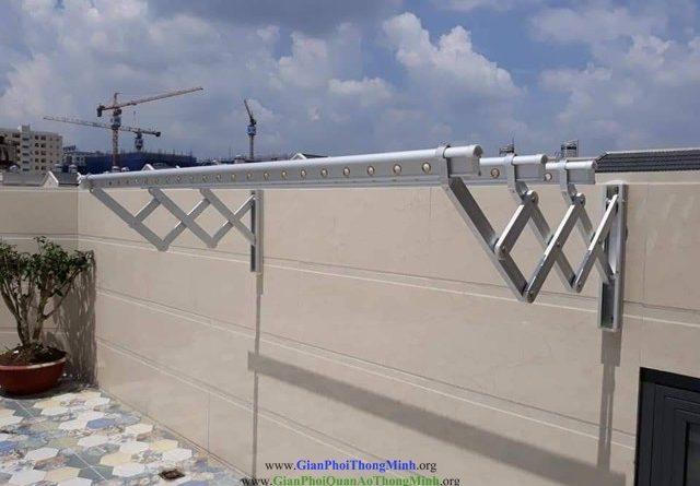 Lắp giàn phơi gắn tường inox, giàn phơi gắn tường inox, Giàn phơi inox, Thanh phơi, Gianphoithongminh.org, giàn phơi, giàn phơi gắn tường