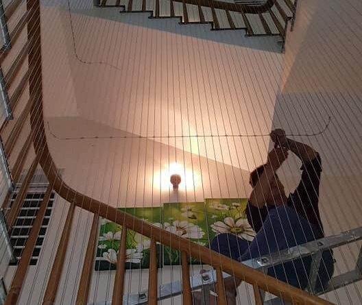 Thi công lưới an toàn cầu thang, Lưới an toàn cầu thang, lưới an toàn cầu thang, Loại chọn lưới an toàn cầu thang, lưới an toàn, lưới ban công